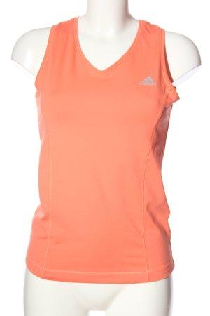 Adidas Top deportivo sin mangas rosa letras impresas look casual