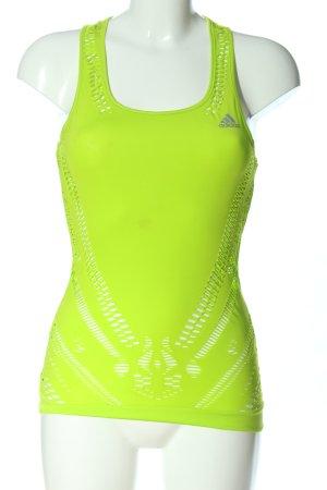 Adidas Top sportowy zielony W stylu casual