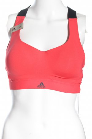 Adidas Sporttop pink Schriftzug gedruckt Elegant