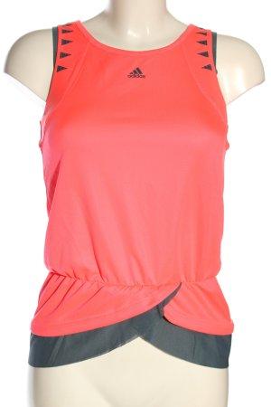 Adidas Top sportowy czerwony-jasnoszary Graficzny wzór Sportowy styl