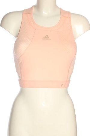 Adidas Top sportowy nude Prosty styl