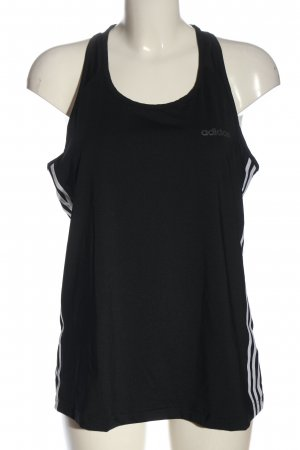 Adidas Sporttop schwarz Schriftzug gedruckt Casual-Look