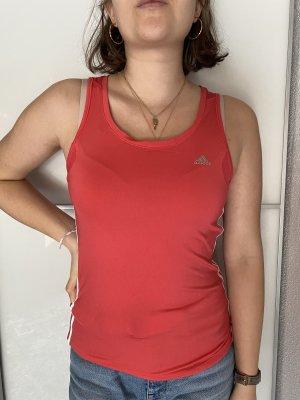 Adidas Top deportivo sin mangas rojo frambuesa