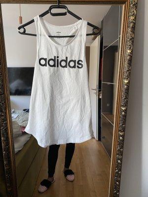 Adidas Débardeur de sport blanc-noir