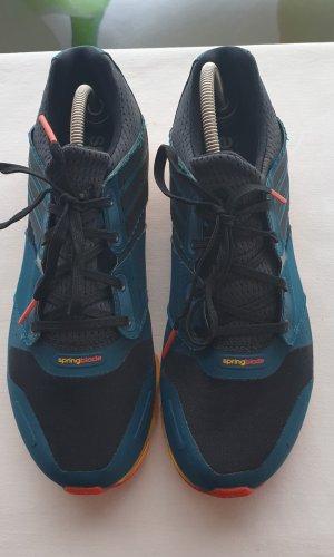 Adidas Originals Basket à lacet bleu foncé-orange polyester