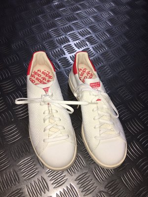 Adidas Stan Smith Adicolor High Top Sneaker white-red