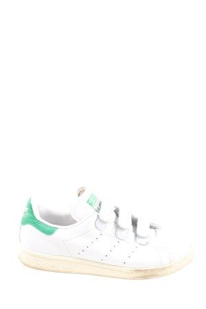Adidas Stan Smith Adicolor Sneaker Klettverschluss weiß-grün Casual-Look