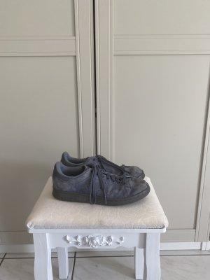 Adidas Stan Smith Adicolor Sznurowane trampki szary niebieski Skóra