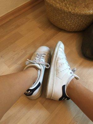 adidas stan smith Basket à lacet blanc-bleu acier