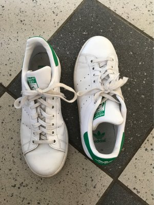adidas stan smith Lace-Up Sneaker white-forest green leather