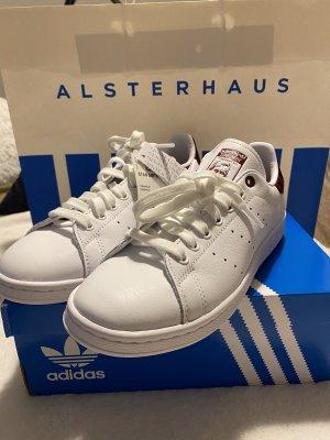 Adidas Sneakers met veters wit-bordeaux