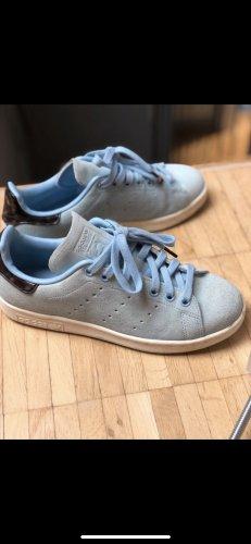 adidas stan smith Basket à lacet bleu azur-bleuet