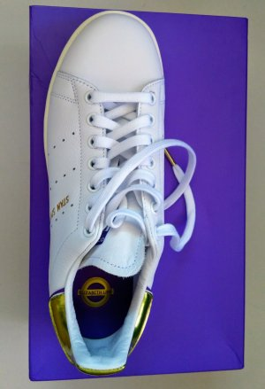 Adidas Stan Smith neu Gr. 40 2/3 weiß lila gold