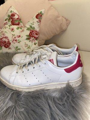 Adidas Basket à lacet blanc-rose