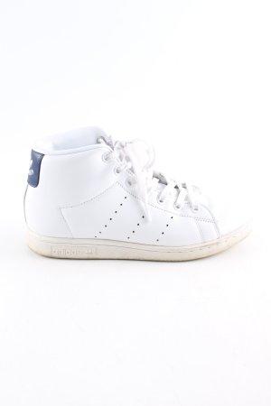 adidas stan smith Zapatilla brogue blanco-azul look casual