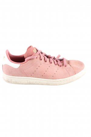 adidas stan smith Lace-Up Sneaker pink-natural white casual look