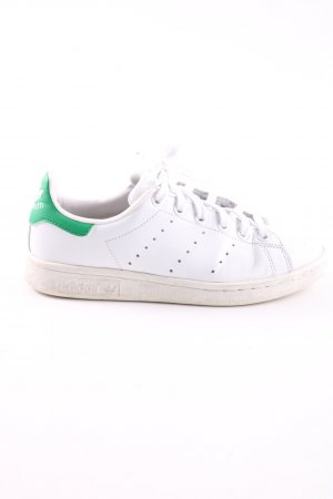 adidas stan smith Lace-Up Sneaker white-green casual look