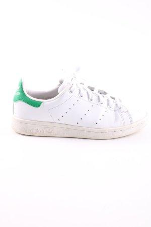adidas stan smith Basket à lacet blanc-vert style décontracté