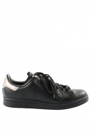 adidas stan smith Lace-Up Sneaker black-gold-colored casual look