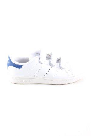 adidas stan smith Sneaker Klettverschluss weiß-blau sportlicher Stil