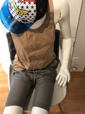 Adidas by Stella McCartney Szorty sportowe brąz-khaki