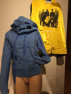 Adidas by Stella McCartney Jack met capuchon korenblauw