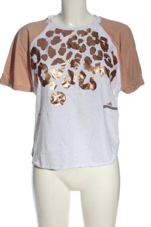 Adidas Stella Mccartney T-Shirt white-nude leopard pattern casual look