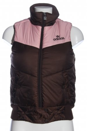 Adidas Steppweste braun-pink Steppmuster Casual-Look
