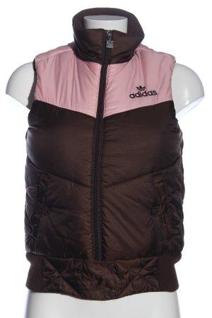Adidas Pikowana kamizelka brązowy-różowy Pikowany wzór W stylu casual