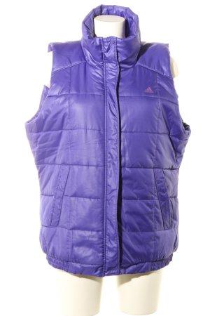 Adidas Gilet matelassé violet motif de courtepointe style décontracté