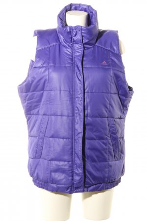 Adidas Quilted Gilet lilac quilting pattern casual look