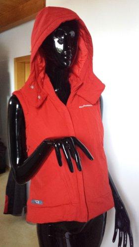 Adidas Steppweste mit Kapuze, rot, Gr.38