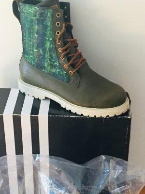 Adidas Bottes à lacets vert foncé