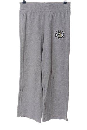 Adidas Pantalon en jersey gris clair moucheté style décontracté