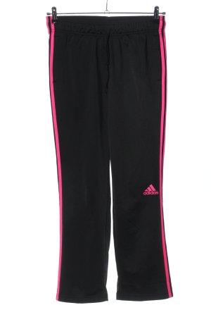 Adidas Pantalón tipo suéter negro-rosa letras impresas look casual