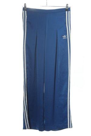 Adidas Pantalon en jersey bleu-blanc motif rayé style décontracté