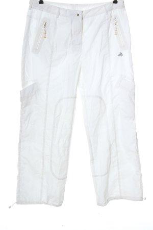 Adidas Pantalón tipo suéter blanco look casual