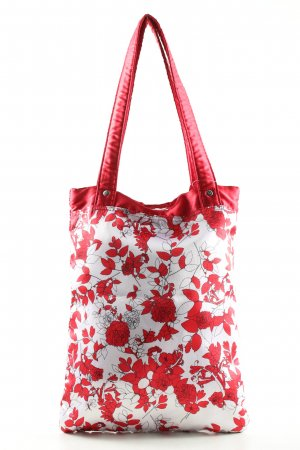 Adidas Torebka materiałowa biały-czerwony Wzór w kwiaty W stylu casual