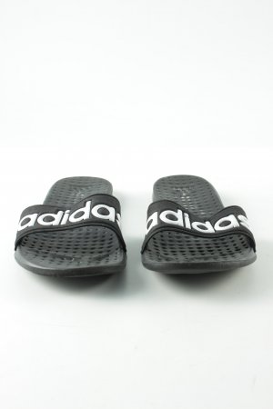 Adidas Beach Sandals black-white printed lettering casual look