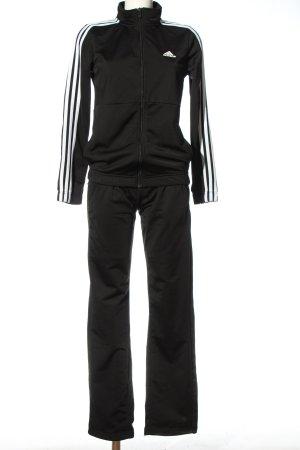 Adidas Twin set in maglia nero-bianco caratteri stampati stile casual