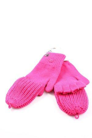 Adidas Guantes de punto rosa look casual