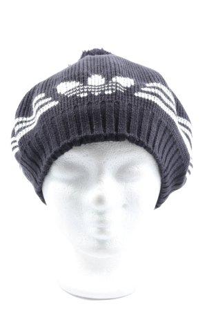 Adidas Sombrero de punto lila-blanco estampado a rayas look casual