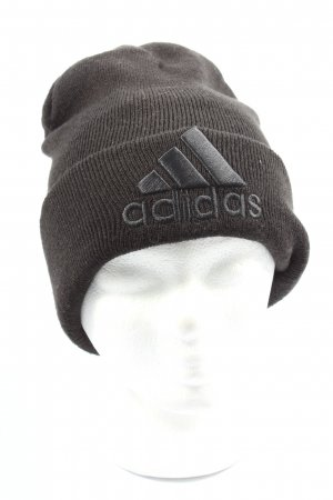 Adidas Knitted Hat black embroidered lettering casual look