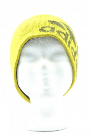 Adidas Knitted Hat primrose-black printed lettering casual look