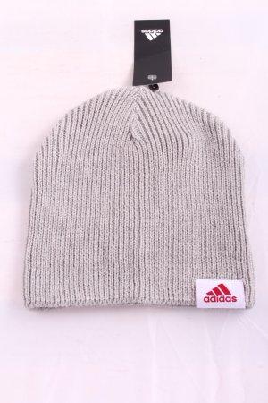 Adidas Chapeau en tricot gris clair torsades style décontracté