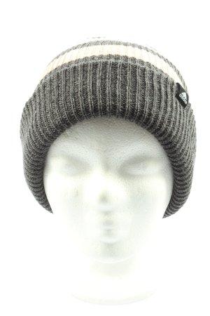 Adidas Sombrero de punto negro-nude estampado repetido sobre toda la superficie