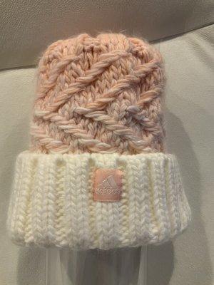 Adidas Cappello a maglia bianco-rosa chiaro Tessuto misto