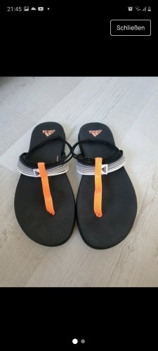 Adidas Klapki basenowe czarny-pomarańczowy