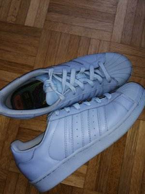 Adidas Lace-Up Sneaker azure leather