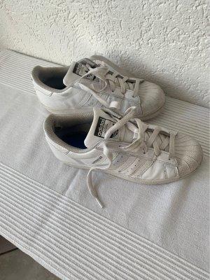 Adidas superstar Sneakers met veters wit-zwart